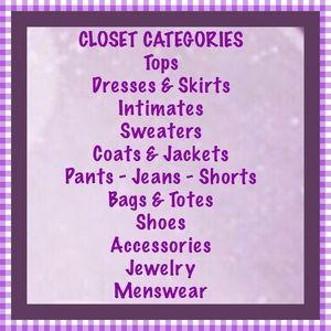 Other - Closet Categories